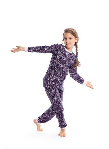 Pamuk & Pamuk Kız Çocuk Yıldız Desen Pamuklu Pijama Takımı Renkli